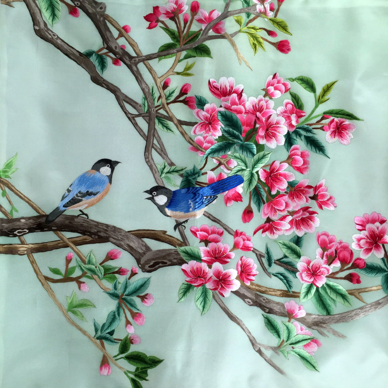 Silk embroidery cushion cover from on inkston